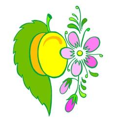 yellow plum vector image