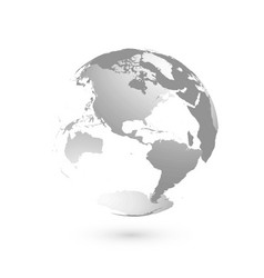 3d planet earth globe transparent sphere with vector