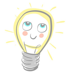 A cute lamp with rosy cheeks or color vector