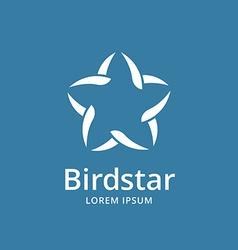 Abstract bird star logo icon design template vector