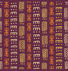 african seamless pattern ethnic aztec ornament vector image