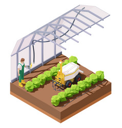 Agricultural greenhouse weeding robot vector