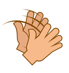 applause gesture clapping hands emoji isolated vector image