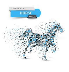 beautiful horse - abstract dot vector image