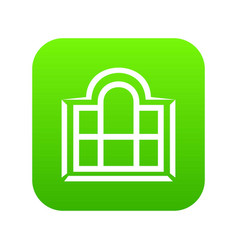 beautiful window frame icon green vector image