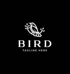 bird logo template in isolated black background vector image