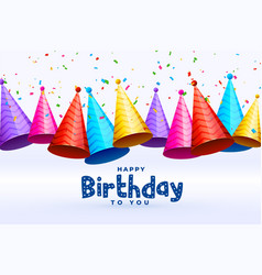Birthday celebration caps in many colors vector