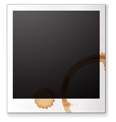 Blank photograph vector image