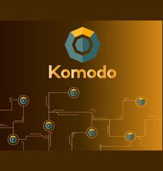 Blockchain komodo symbol network concept finance vector
