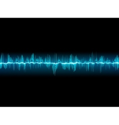 Bright sound wave on a dark blue EPS 10 vector image