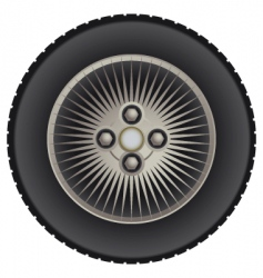 Car mag wheel vector