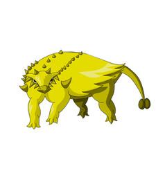 cartoon dinosaur icon vector image