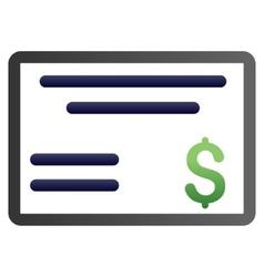 Cheque Gradient Icon vector