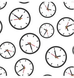 clock sign icon seamless pattern background time vector image