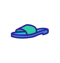 Clog shoe icon outline vector