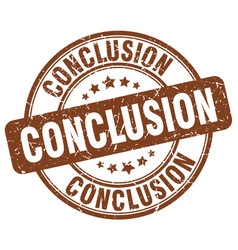 Conclusion stamp vector