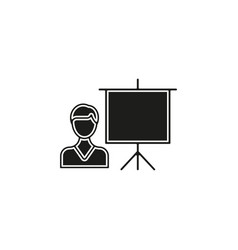 conference presentation - business vector image