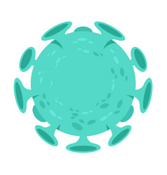 coronavirus infectious bacteria vector image