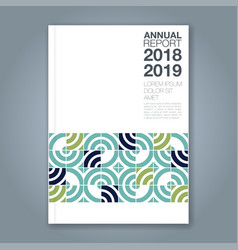 Cover annual report 825 vector