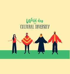 Cultural diversity diverse ethnic people vector