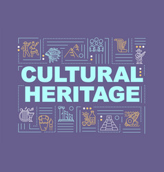 Culture and history word concepts banner vector