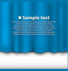 Curtain blue color vector