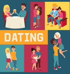 dating banner people sitting vector image