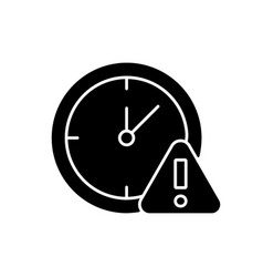 Do not use for a long time black glyph manual vector