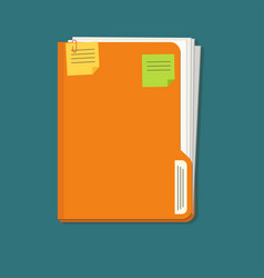 Documents folder icon with paper sheets vector