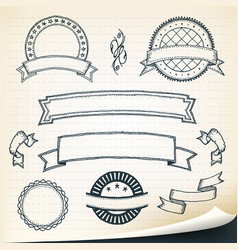 doodle banners and design elements vector image