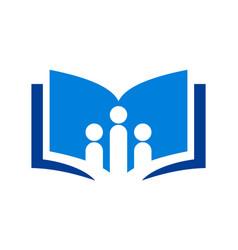 education book school library icon logo vector image