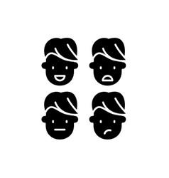 Emotional intelligence black icon sign on vector