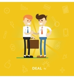 Entrepreneurs agree on a deal vector