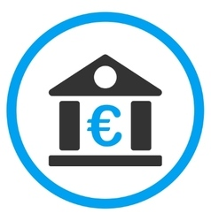 Euro Museum Rounded Icon vector