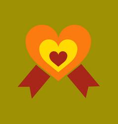 Flat icon on stylish background rainbow heart vector