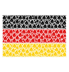 german flag mosaic of plant leaf icons vector image