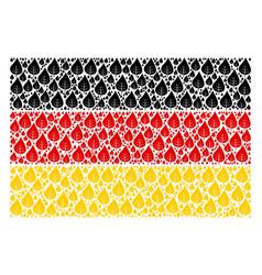 German flag mosaic of plant leaf icons vector