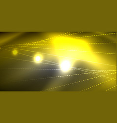 glossy shiny glowing neon waves vector image