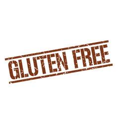 gluten free stamp vector image