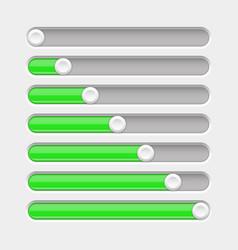 Green slider bar settings on control panel vector