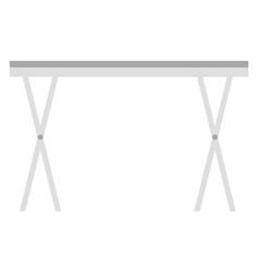 grey ironing board isolated on white image vector image