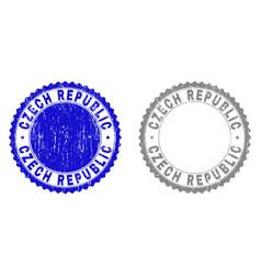 grunge czech republic textured watermarks vector image