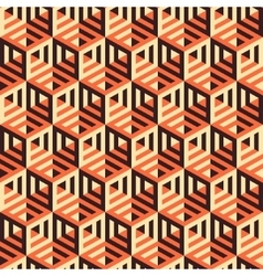 Hexagonal lines pattern Abstract 3d background vector image