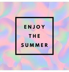 Holographic summer background vector