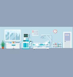 Hospital ward empty emergency room indoor vector