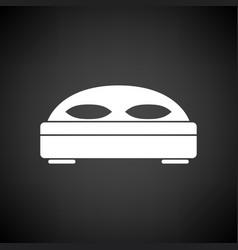 hotel bed icon vector image