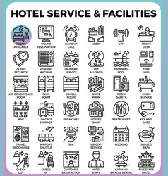 Hotel service facilities vector