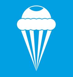 Ice cream icon white vector