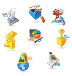 Icons for commerce and retail vector