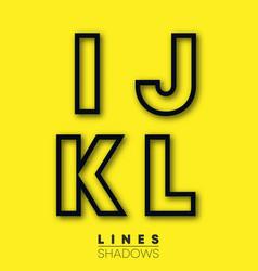 letters linear design set letter i j k l vector image